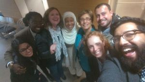 Selfie of staff and panelists, courtesy of Ahmed Ali Akbar.