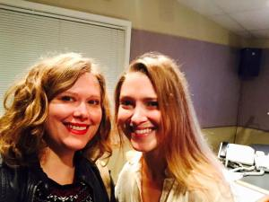 Pictured with WFDD Associate Producer, Bethany Chafin.